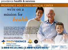 PROVIDENCE HOLY CROSS MEDICAL CENTER - 1-888-HEALING (1-888-432-5464)