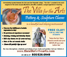 TheVilla for the Arts - Pottery & Sculpture Classes - www.thevillaforthearts.com - 805/526-0949